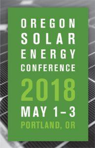 Oregon Solar Energy Conference logo May 1-3, 2018