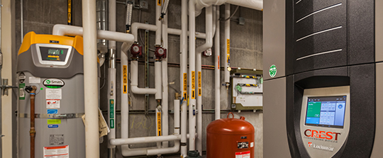 Hydronic heating unit.