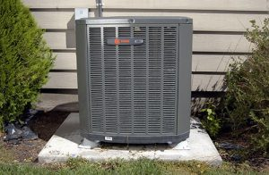 close up of a heat pump