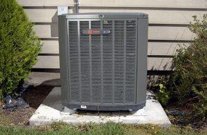close up of a heat pump