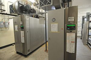 two condensing boilers