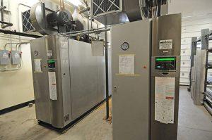 two condensing boilers