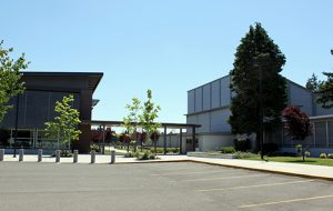 Outside view of David Douglas High School.