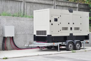 Big backup generator for an office building.