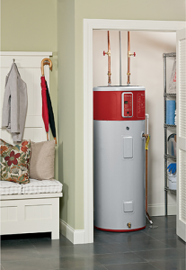 water heating unit in the closet of a home