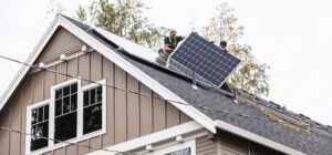 Solar installation on home
