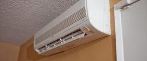 A ductless heat pump.