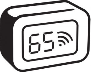 illustration of thermostat