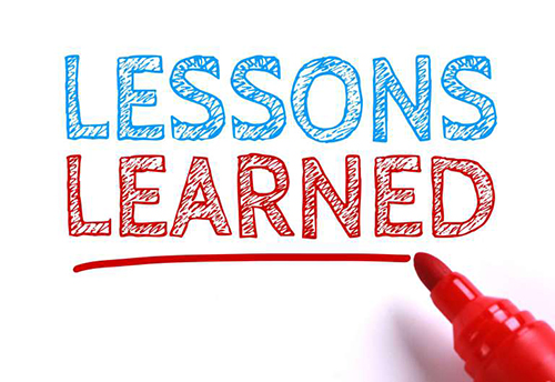 "Image showing the words ""Lessons Learned"""