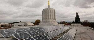Capital building Salem with solar panels